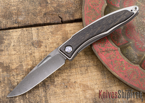 Chris Reeve Knives: Mnandi - Bog Oak - Ladder Damascus - 031502