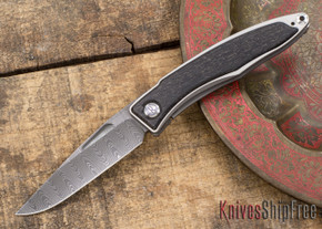 Chris Reeve Knives: Mnandi - Bog Oak - Ladder Damascus - 031505