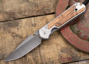 Chris Reeve Knives: Large Sebenza 21 - Thuya Burl - Ladder Damascus - 031532