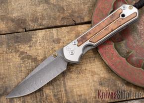 Chris Reeve Knives: Large Sebenza 21 - Thuya Burl - Ladder Damascus - 031533