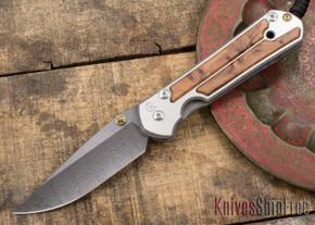 Chris Reeve Knives: Large Sebenza 21 - Thuya Burl - Ladder Damascus - 031534