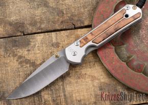 Chris Reeve Knives: Large Sebenza 21 - Thuya Burl - Ladder Damascus - 031535