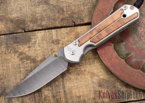 Chris Reeve Knives: Large Sebenza 21 - Thuya Burl - Ladder Damascus - 031536