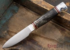 Hess Knifeworks: Muley - Buckeye Burl - 031704