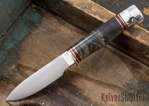 Hess Knifeworks: Muley - Buckeye Burl - 031705