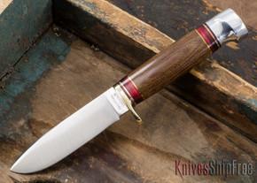 Hess Knifeworks: Tiburon - Brown Micarta