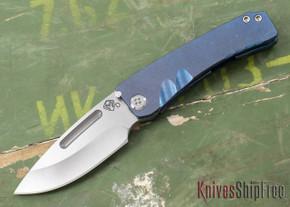 "Medford Knife & Tool: ""Dress"" Marauder - Blue Titianium"