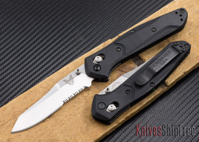 Benchmade Knives: 940S-2 Osborne - Black G-10 - Partially Serrated