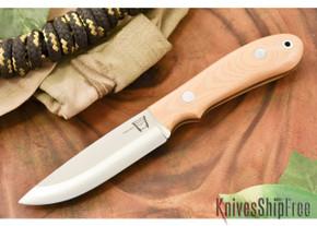 Hyken Knives: Bushcrafter CPM-154 - Antique Ivory Micarta