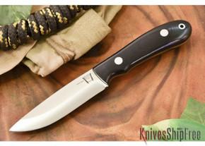 Hyken Knives: Bushcrafter CPM-154 - Black G-10