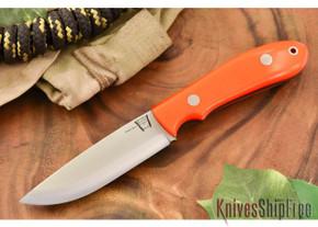 Hyken Knives: Bushcrafter CPM-154 - Blaze Orange G-10 - Black Liners
