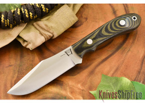 Hyken Knives: Harpoon CPM-154 - Black & Green Linen Micarta