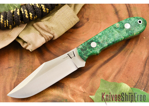 Hyken Knives: Harpoon CPM-154 - Green & Gold Elder Burl #2