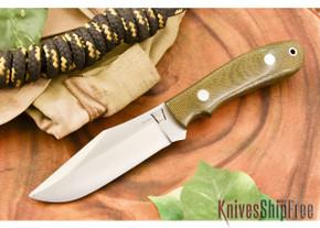 Hyken Knives: Harpoon CPM-154 - Green Canvas Micarta