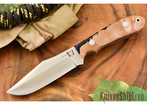 Hyken Knives: Harpoon CPM-154 - Natural Maple Burl / Deep Blue Acrylic Hybrid