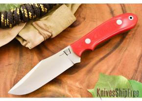 Hyken Knives: Harpoon CPM-154 - Red Linen Micarta