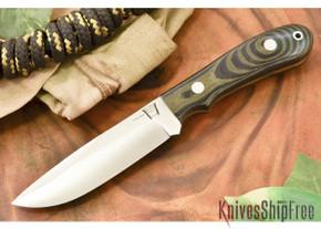 Hyken Knives: Lite Hunter CPM-154 - Black & Green Linen Micarta
