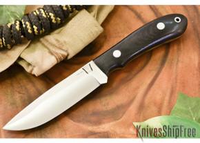 Hyken Knives: Lite Hunter CPM-154 - Black Canvas Micarta