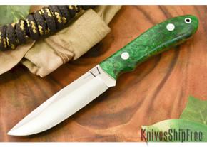 Hyken Knives: Lite Hunter CPM-154 - Green & Gold Elder Burl #1