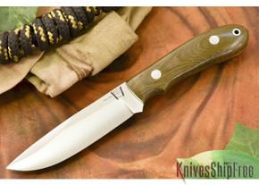 Hyken Knives: Lite Hunter CPM-154 - Green Canvas Micarta
