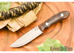 Hyken Knives: Bushcrafter CPM-154 - Black & Scarlet Elder Burl