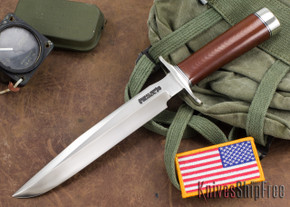 Randall Made Knives: Model 1-8 All Purpose Fighting Knife - Brown Micarta - Stainless Steel