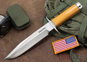 Randall Made Knives: Model 14 Attack - Yellow Micarta - Stainless Steel