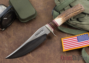 Randall Made Knives: Model 27 Trailblazer - Stag w/ Micarta Spacers - Stainless Steel