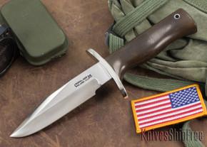 Randall Made Knives: Model 15 Airman - Green Micarta - Stainless Steel