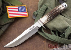 Randall Made Knives: Model 12-6 Little Bear Bowie - Stag