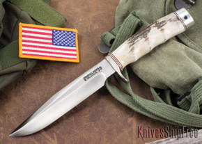Randall Made Knives: Model 5-6 Camp & Trail Knife - Stag - Stainless Steel