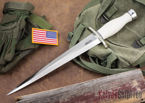 Randall Made Knives: Model 13-12 Arkansas Toothpick - White Micarta