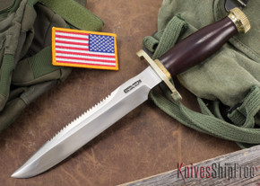 Randall Made Knives: Model 1-8 All Purpose Fighting Knife - Red Micarta - Commando Style - Stainless Steel