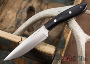 True Saber Knives: Delaware - Black Canvas Micarta