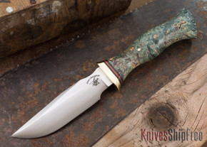 Jesse Hemphill Knives: Lil' 1 - Blue & Green Maple Burl