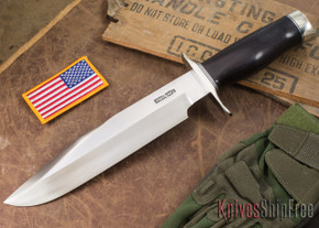 Randall Made Knives: Model 12-9 Sportsman Bowie #14 Grind - Rosewood - Stainless Steel