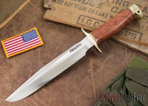 Randall Made Knives: Model 1-8 All Purpose Fighting Knife - Thuya Burl - Stainless Steel