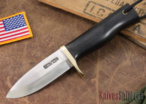 Randall Made Knives: Fireman Special - Black Canvas Micarta - Stainless Steel #1
