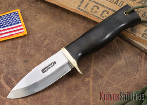 Randall Made Knives: Fireman Special - Black Canvas Micarta - Stainless Steel #2