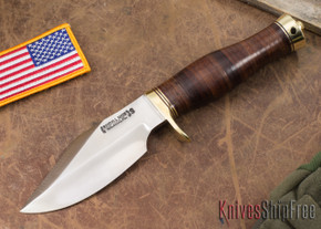 Randall Made Knives: Model 19-4 Bushmaster - Stacked Leather - Stainless Steel