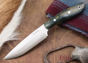 True Saber Knives: Delaware - Emerald Spalted Maple
