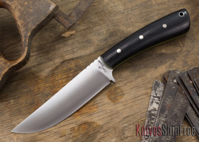 Cross Knives: All Round Hunter Knife - Black Canvas Micarta - Lime Green Liners