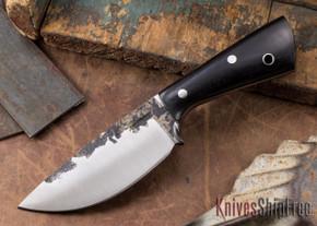 Lon Humphrey Knives: Custom Brute - Black Canvas Micarta - Drop Point #1