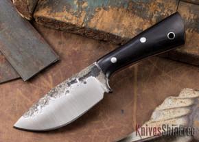 Lon Humphrey Knives: Custom Brute - Black Canvas Micarta - Drop Point #2
