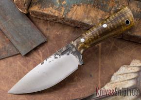 Lon Humphrey Knives: Custom Brute - Dark Curly Maple - Drop Point #6