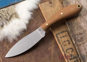 L.T. Wright Knives: Small Northern Hunter - Natural Micarta - Matte - Black Liners