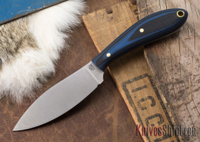 L.T. Wright Knives: Small Northern Hunter - Blue & Black G-10 - Matte