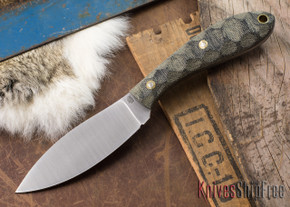 L.T. Wright Knives: Large Northern Hunter - Black Mountain Micarta