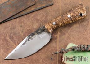 Lon Humphrey Knives: Custom Brute - Curly Koa - Clip Point #1