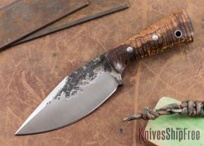 Lon Humphrey Knives: Custom Brute - Curly Koa - Clip Point #3